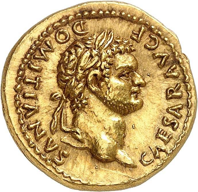 Domitien César 69-81. Aureus ...