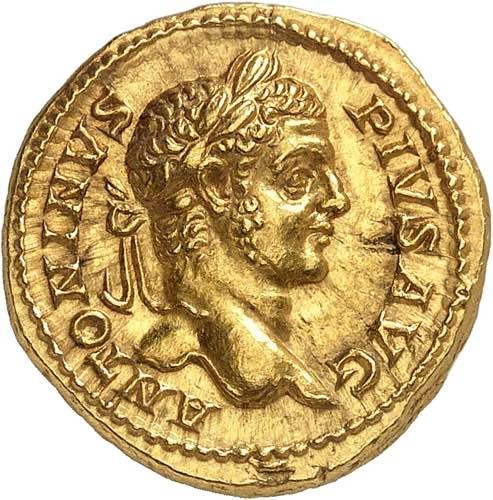 Caracalla 198-217. Aureus 208, ...