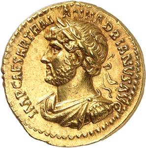 Hadrien 117-138. Aureus ...